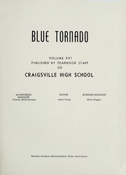 Page 5, 1961 Edition, Craigsville High School - Blue Tornado Yearbook (Craigsville, VA) online yearbook collection