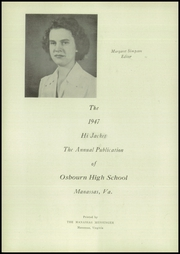 Page 8, 1947 Edition, Osbourne High School - Hi Jacket Yearbook (Manassas, VA) online yearbook collection