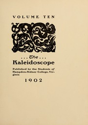 Page 9, 1902 Edition, Hampden Sydney College - Kaleidoscope Yearbook (Hampden Sydney, VA) online yearbook collection