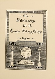Page 11, 1912 Edition, Hampden Sydney College - Kaleidoscope Yearbook (Hampden Sydney, VA) online yearbook collection