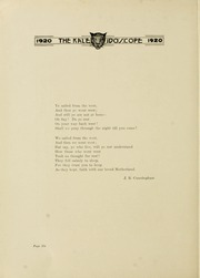 Page 10, 1920 Edition, Hampden Sydney College - Kaleidoscope Yearbook (Hampden Sydney, VA) online yearbook collection