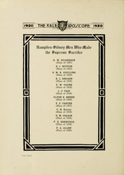 Page 12, 1920 Edition, Hampden Sydney College - Kaleidoscope Yearbook (Hampden Sydney, VA) online yearbook collection