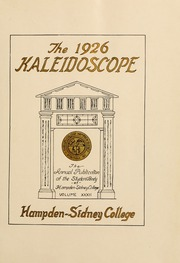 Page 7, 1926 Edition, Hampden Sydney College - Kaleidoscope Yearbook (Hampden Sydney, VA) online yearbook collection