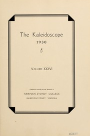 Page 7, 1930 Edition, Hampden Sydney College - Kaleidoscope Yearbook (Hampden Sydney, VA) online yearbook collection