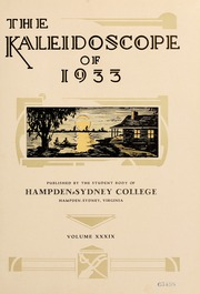 Page 7, 1933 Edition, Hampden Sydney College - Kaleidoscope Yearbook (Hampden Sydney, VA) online yearbook collection
