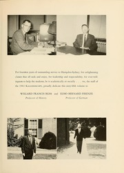 Page 11, 1961 Edition, Hampden Sydney College - Kaleidoscope Yearbook (Hampden Sydney, VA) online yearbook collection