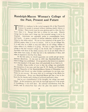 Page 12, 1909 Edition, Randolph College - Helianthus Yearbook (Lynchburg, VA) online yearbook collection