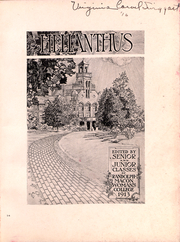 Page 2, 1913 Edition, Randolph College - Helianthus Yearbook (Lynchburg, VA) online yearbook collection
