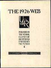 Page 9, 1926 Edition, University of Richmond - Web Yearbook (Richmond, VA) online yearbook collection