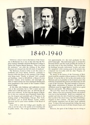 Page 12, 1940 Edition, University of Richmond - Web Yearbook (Richmond, VA) online yearbook collection