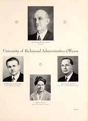 Page 17, 1940 Edition, University of Richmond - Web Yearbook (Richmond, VA) online yearbook collection