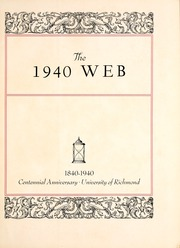 Page 7, 1940 Edition, University of Richmond - Web Yearbook (Richmond, VA) online yearbook collection