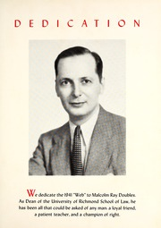 Page 9, 1941 Edition, University of Richmond - Web Yearbook (Richmond, VA) online yearbook collection