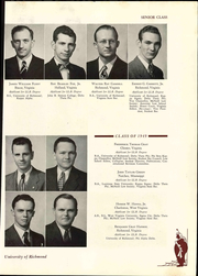 Page 131, 1949 Edition, University of Richmond - Web Yearbook (Richmond, VA) online yearbook collection