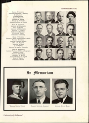 Page 19, 1949 Edition, University of Richmond - Web Yearbook (Richmond, VA) online yearbook collection