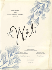 Page 7, 1952 Edition, University of Richmond - Web Yearbook (Richmond, VA) online yearbook collection
