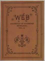 1972 Edition, University of Richmond - Web Yearbook (Richmond, VA)