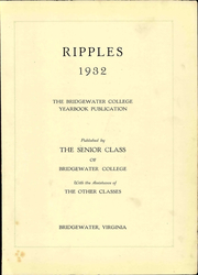 Page 7, 1932 Edition, Bridgewater College - Ripples Yearbook (Bridgewater, VA) online yearbook collection