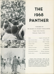 Page 5, 1968 Edition, Virginia Union University - Panther Yearbook (Richmond, VA) online yearbook collection