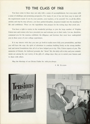 Page 8, 1968 Edition, Virginia Union University - Panther Yearbook (Richmond, VA) online yearbook collection
