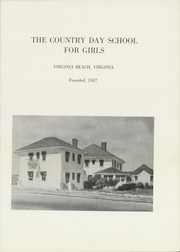 Page 7, 1965 Edition, Country Day School for Girls - Horizons Yearbook (Virginia Beach, VA) online yearbook collection