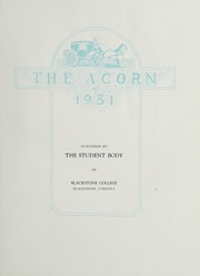 Page 7, 1931 Edition, Blackstone College - Acorn Yearbook (Blackstone, VA) online yearbook collection