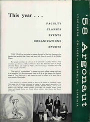 Page 11, 1958 Edition, Lynchburg College - Argonaut Yearbook (Lynchburg, VA) online yearbook collection