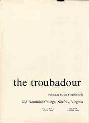 Page 8, 1963 Edition, Old Dominion University - Troubador Yearbook (Norfolk, VA) online yearbook collection