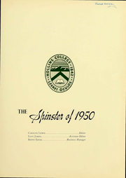 Page 3, 1950 Edition, Hollins University - Spinster Yearbook (Roanoke, VA) online yearbook collection