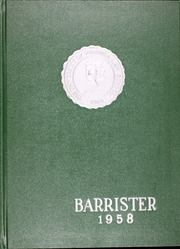 1958 Edition, University of Virginia Law School - Barrister Yearbook (Charlottesville, VA)