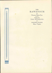 Page 9, 1934 Edition, Roanoke College - Rawenoch Yearbook (Salem, VA) online yearbook collection