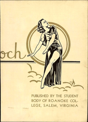Page 9, 1936 Edition, Roanoke College - Rawenoch Yearbook (Salem, VA) online yearbook collection