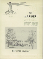 Page 5, 1959 Edition, Tidewater Academy - Mariner Yearbook (Wakefield, VA) online yearbook collection
