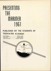 Page 5, 1961 Edition, Tidewater Academy - Mariner Yearbook (Wakefield, VA) online yearbook collection