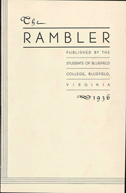 Page 9, 1936 Edition, Bluefield College - Rambler Yearbook (Bluefield, VA) online yearbook collection