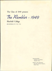 Page 5, 1949 Edition, Bluefield College - Rambler Yearbook (Bluefield, VA) online yearbook collection