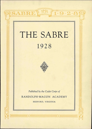 Page 9, 1928 Edition, Randolph Macon Academy - Sabre Yearbook (Bedford, VA) online yearbook collection
