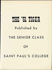 Page 7, 1961 Edition, St Pauls College - Tiger Yearbook (Lawrenceville, VA) online yearbook collection