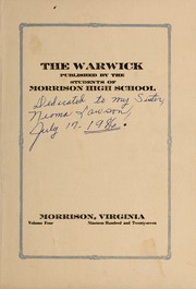 Page 3, 1927 Edition, Morrison High School - Warwick Yearbook (Morrison, VA) online yearbook collection