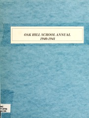 1941 Edition, Oak Hill High School - Oak Leaf Yearbook (Virgilina, VA)