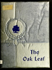 1956 Edition, Oak Hill High School - Oak Leaf Yearbook (Virgilina, VA)