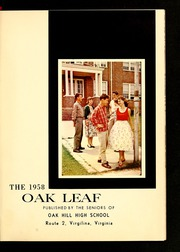 Page 5, 1958 Edition, Oak Hill High School - Oak Leaf Yearbook (Virgilina, VA) online yearbook collection