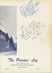 Page 9, 1946 Edition, Highline High School - Pirates Log Yearbook (Burien, WA) online yearbook collection