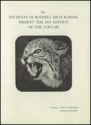 Page 5, 1947 Edition, Bothell High School - Cougar Yearbook (Bothell, WA) online yearbook collection