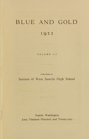 Page 5, 1922 Edition, West Seattle High School - Kimtah Yearbook (Seattle, WA) online yearbook collection