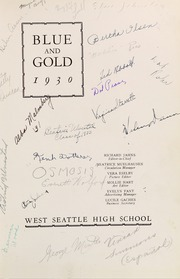 Page 7, 1930 Edition, West Seattle High School - Kimtah Yearbook (Seattle, WA) online yearbook collection