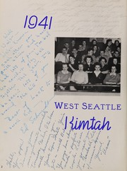Page 6, 1941 Edition, West Seattle High School - Kimtah Yearbook (Seattle, WA) online yearbook collection
