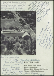 Page 7, 1951 Edition, West Seattle High School - Kimtah Yearbook (Seattle, WA) online yearbook collection