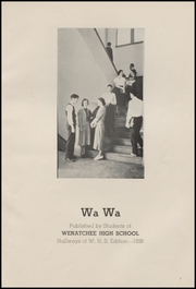 Page 7, 1938 Edition, Wenatchee High School - Wa Wa Yearbook (Wenatchee, WA) online yearbook collection