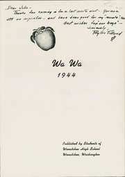 Page 5, 1944 Edition, Wenatchee High School - Wa Wa Yearbook (Wenatchee, WA) online yearbook collection